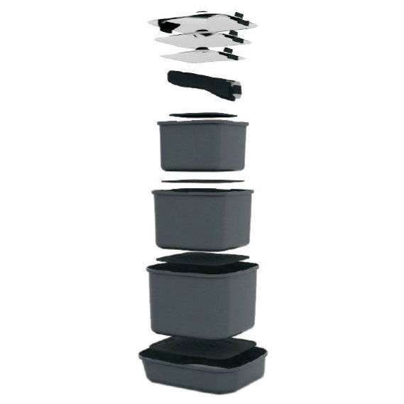 Smartspace Cookware Stacking Square Pots Camping Caravan