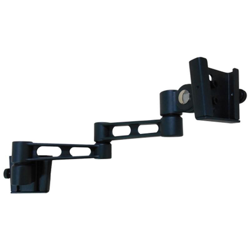 Sphere Double Arm Wall Mount Monitor Bracket In Black