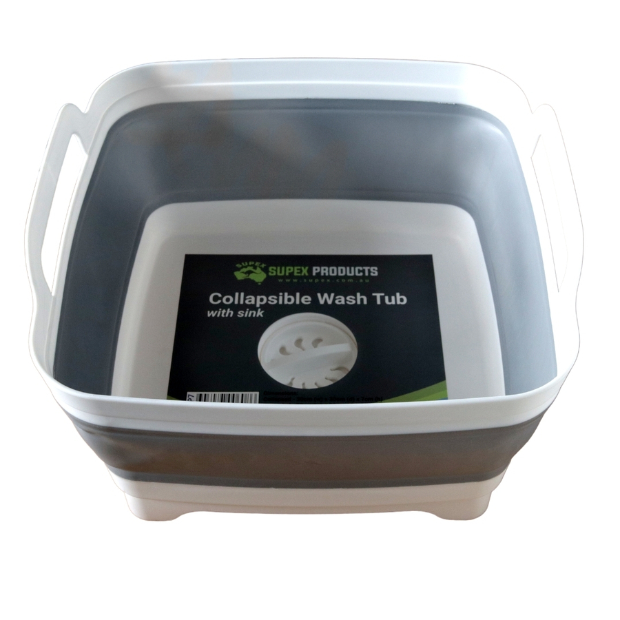 Collapsible Wash Tub Sink With Plug