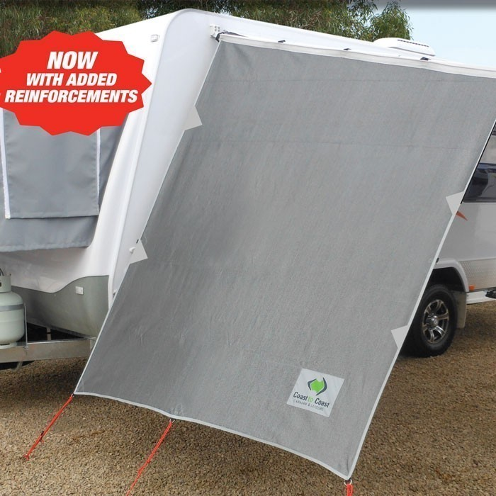 Coast Rv Caravan Privacy End Wall For Roll Out Caravan Awnings