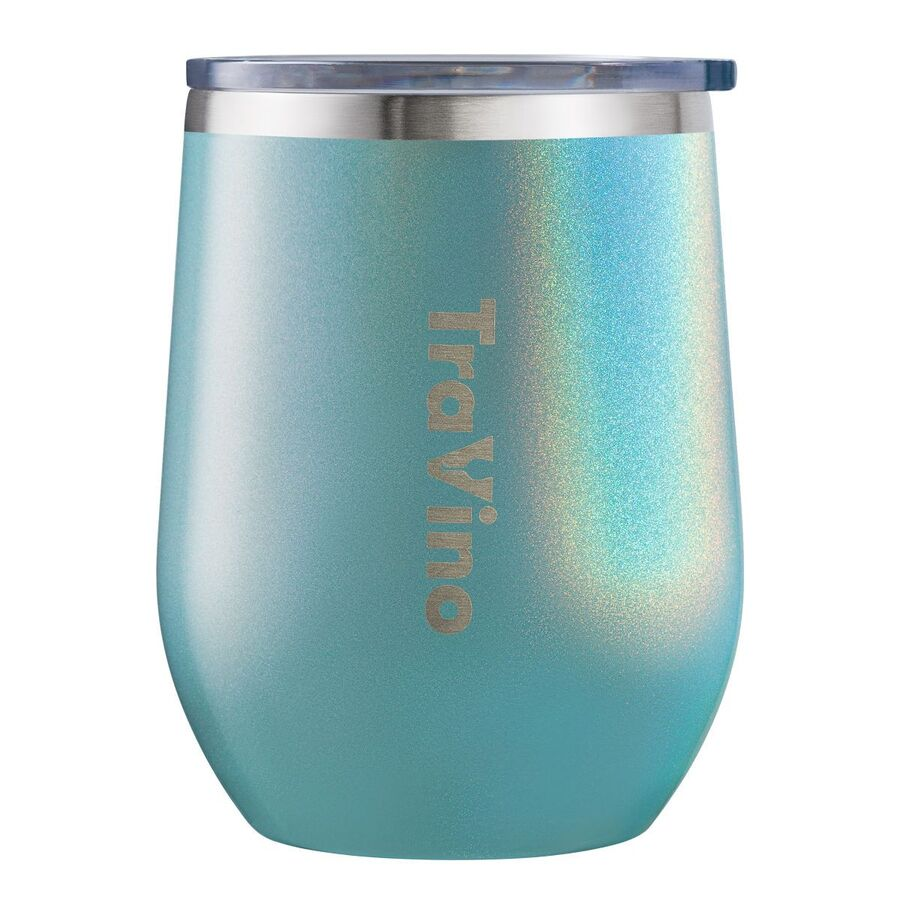 Stemless Insulated Wine Tumbler Glass - Aqua Mist