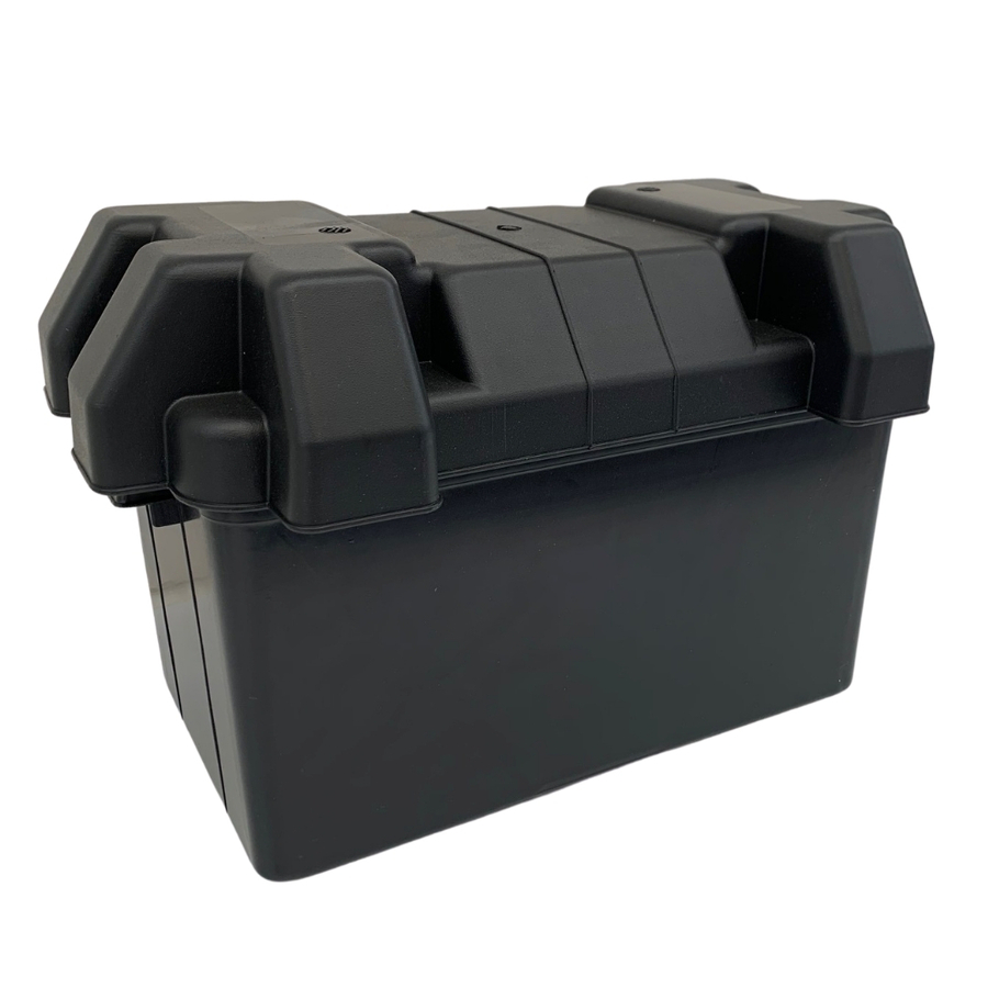 Large Battery Box with Lid & Straps
