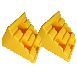 Yellow Chocks (Pair) for Levelling Ramps