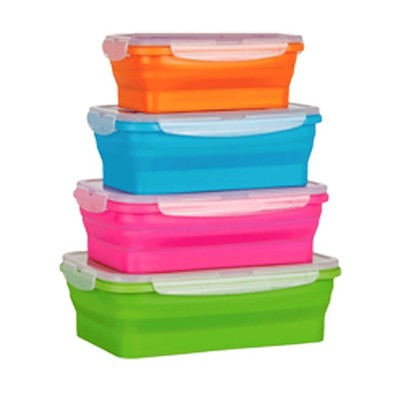 Collapsible Stackable Silicone Food Storage Containers